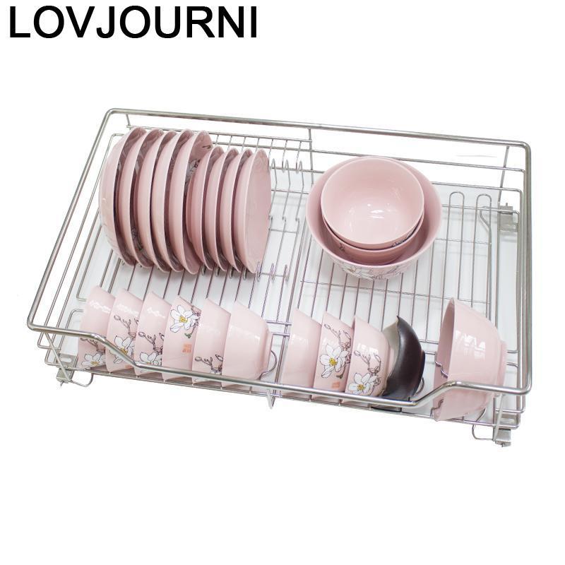 Armario de almacenamiento de acero inoxidable, organizador de Cocina, Cestas Para Organizar Cestas