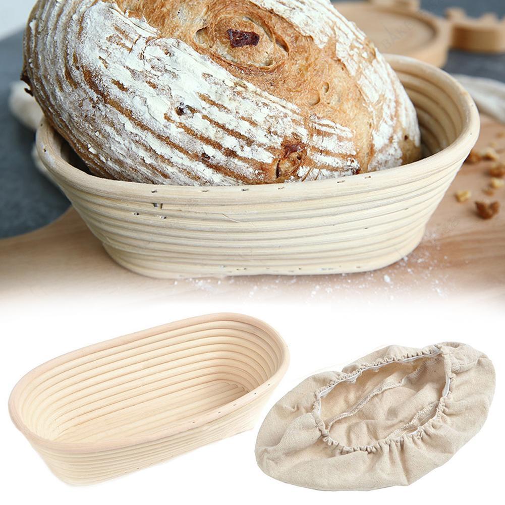 Modelos elípticos, cesta de mimbre para masa, Banneton Brotform, pan, prueba de fermentación, cestas campestres