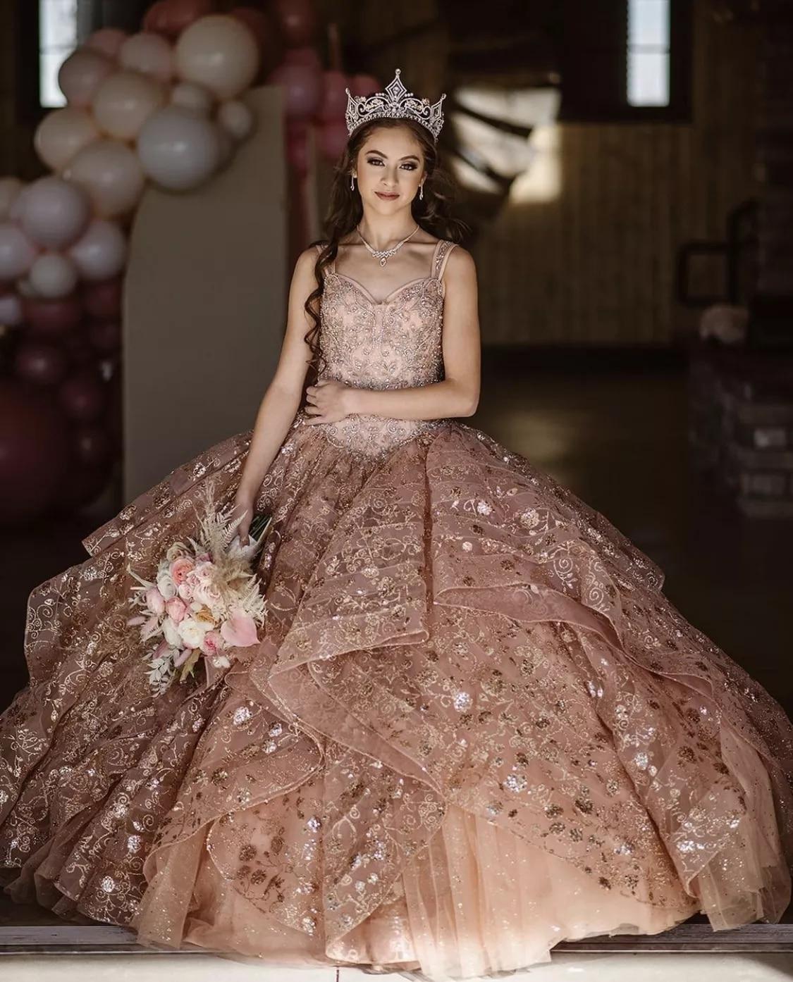 Недорогие Бальные платья цвета шампанского, милое платье с аппликацией, 16 платьев