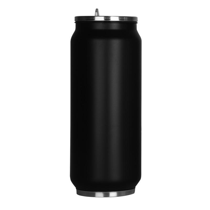 2020 gran oferta 500ml Taza Termo de acero inoxidable minibotella frasco al vacío pajita termo de café latas tazas termo taza