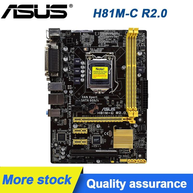 ASUS H81M-C R2.0 سطح المكتب اللوحة LGA 1150 DDR3 16 جرام دعم الأساسية i3-4170 المعالج USB3.0 Mini ITX اللوحة i7-4790K