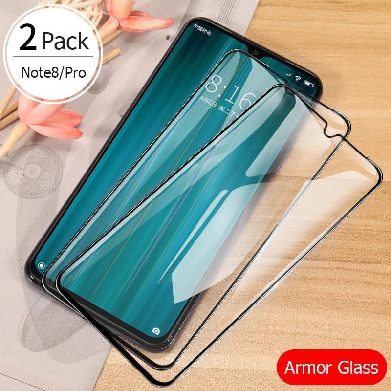 For Xiaomi Redmi Note 8 Pro Glass Screen Protector Full Cover Armor Tempered Glass Xiomi Redmi Note 8 8A 8T 2019 Protective Film