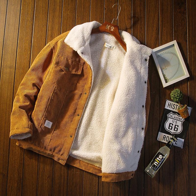 Вельветовая куртка мужская осенне-зимняя толстая и теплая Высококачественная Мужская куртка мужская повседневная хлопковая куртка большо...