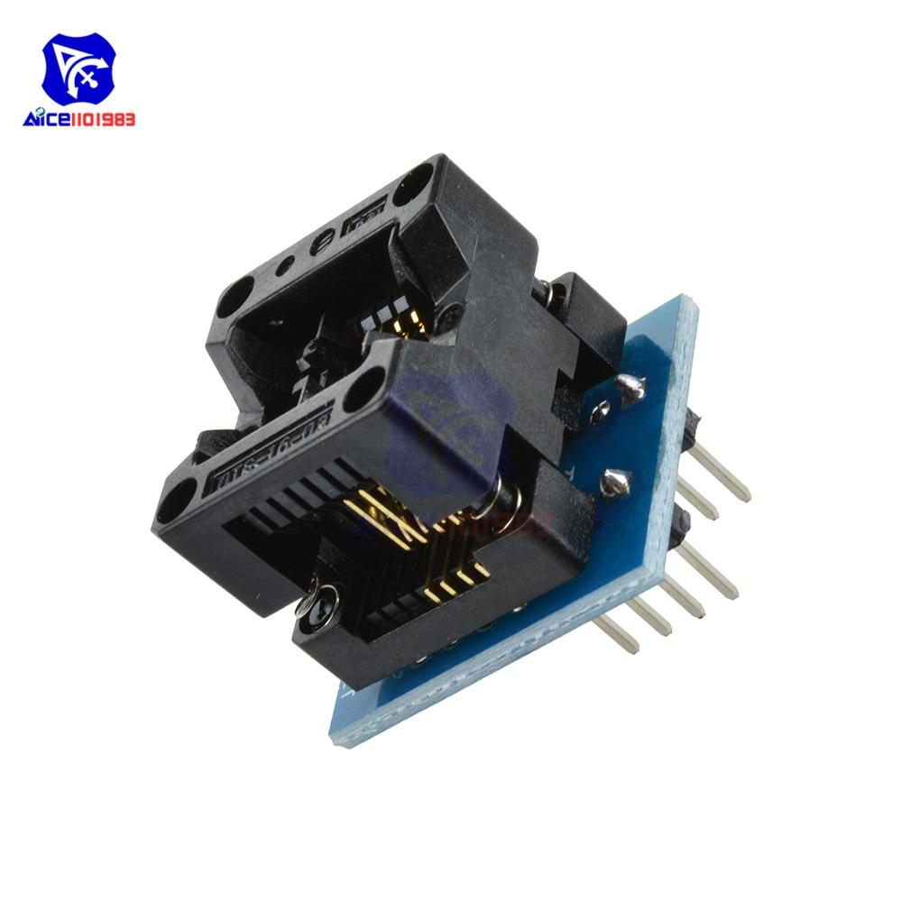 SOIC8 SOP8 zu DIP8 EZ Programmer Adapter Sockel Schmale 150mil Converter Modul