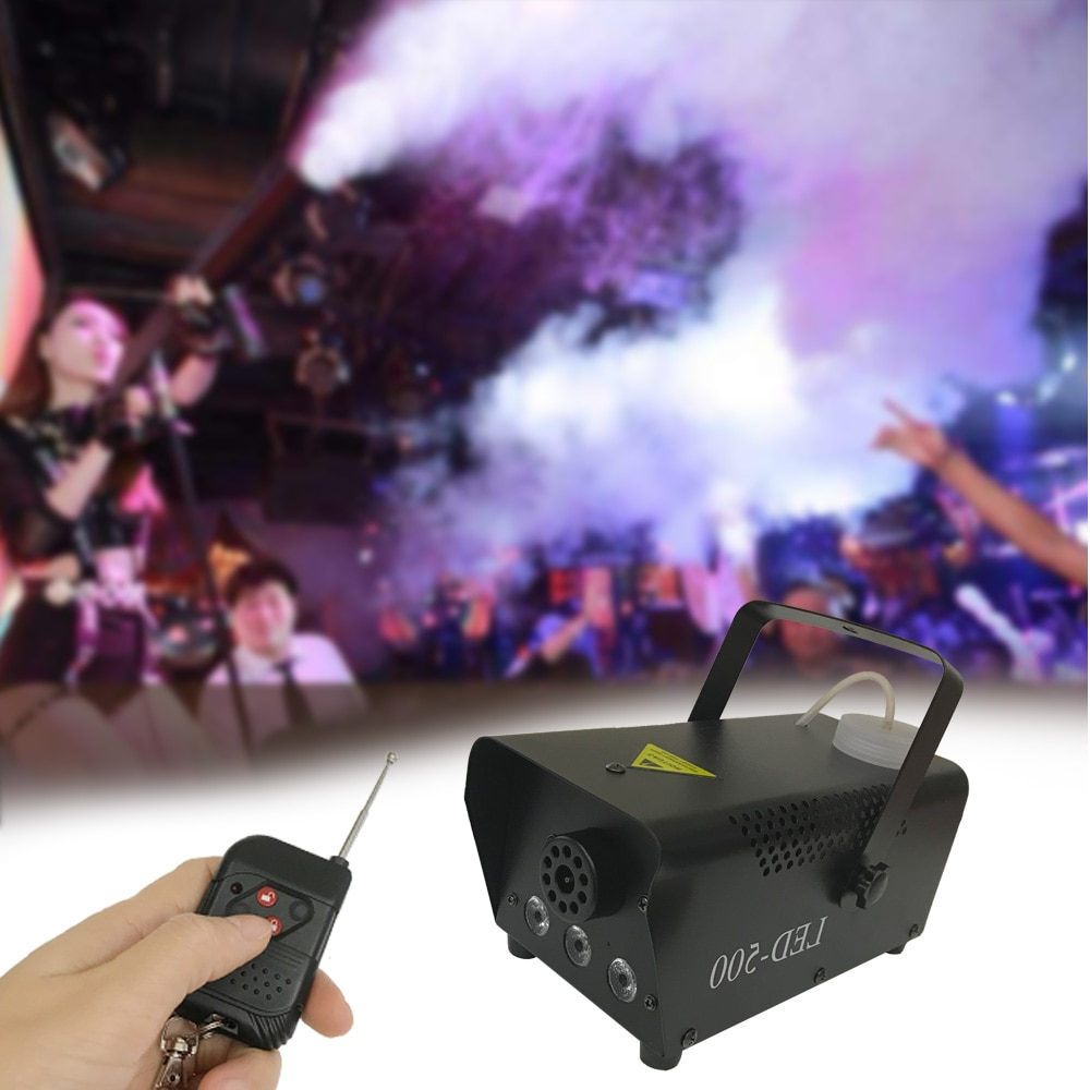 Mini LED RGB inalámbrico 500W niebla humo neblina máquina efecto Disco Fiesta de DJ Navidad con Control remoto LED fogger