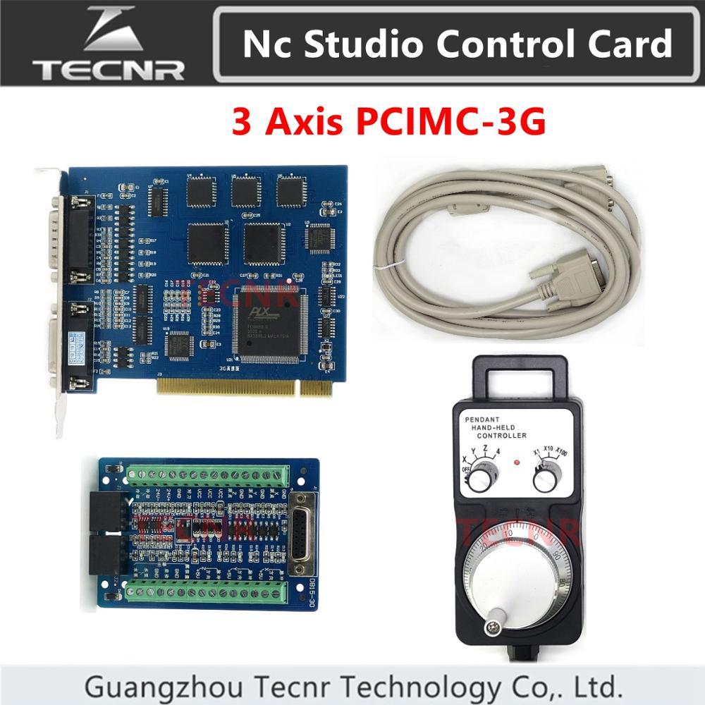 Ncstudio 3G карта управления движением 3 axis nc studio control card system PCIMC-3G и электронный маховик для ЧПУ частей маршрутизатора