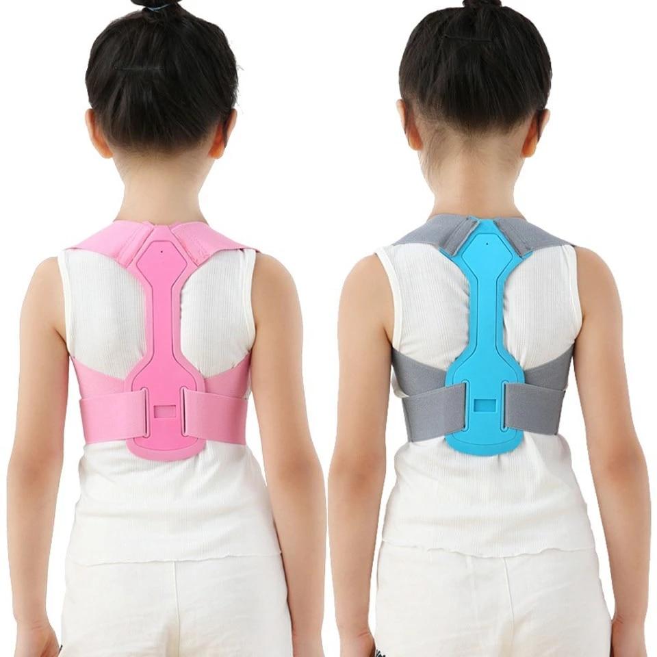 Corrector de postura magnético para niños, cinturón de soporte Lumbar para chico, tirantes para espalda soporte ajustable para columna vertebral