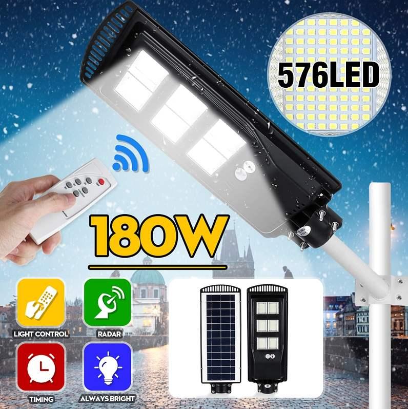 80W 140W 180W LED Solar Street Light PIR Motion Sensor IP65 Waterproof LED Outdoor Lighting Garden Wall Lamp Dropshipping