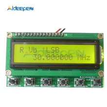 Ad9850 6 bandas 0 55 55 mhz dds analisadores de espectro gerador de sinal de rádio presunto digital rit vfo ssb