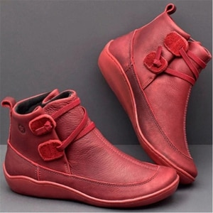 Women Boots Ankle Boots Roman Pointed Casual Booties Spring Autumn Women Boots Ladies Western Stretch Botas Leather