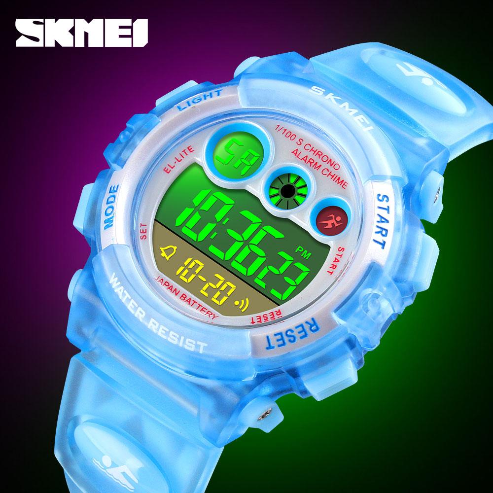 SKMEI Fashion Digital LED Watches Children Watches Sports Boy Girl WatchAlarm Waterproof Date Electronic Digital Wristwatches