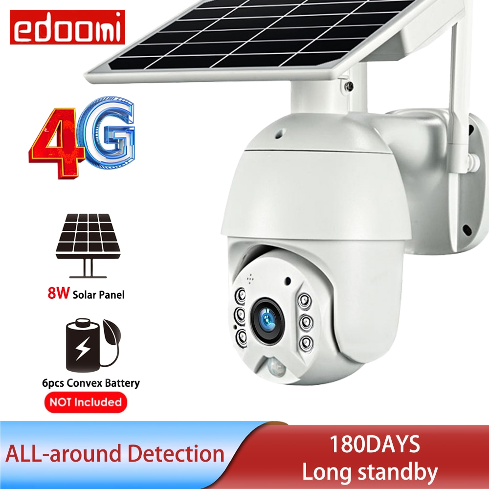4g sim card camera outdoor 1080p 5mp bullet 4g cam wireless cctv security surveillance sd card breed field alarm not networ wifi 4G SIM Card 1080P IP Camera WIFI 8W Solar Video Battery Security Outdoor PTZ CCTV Smart Monitor Wireless Dome IP66 Surveillance