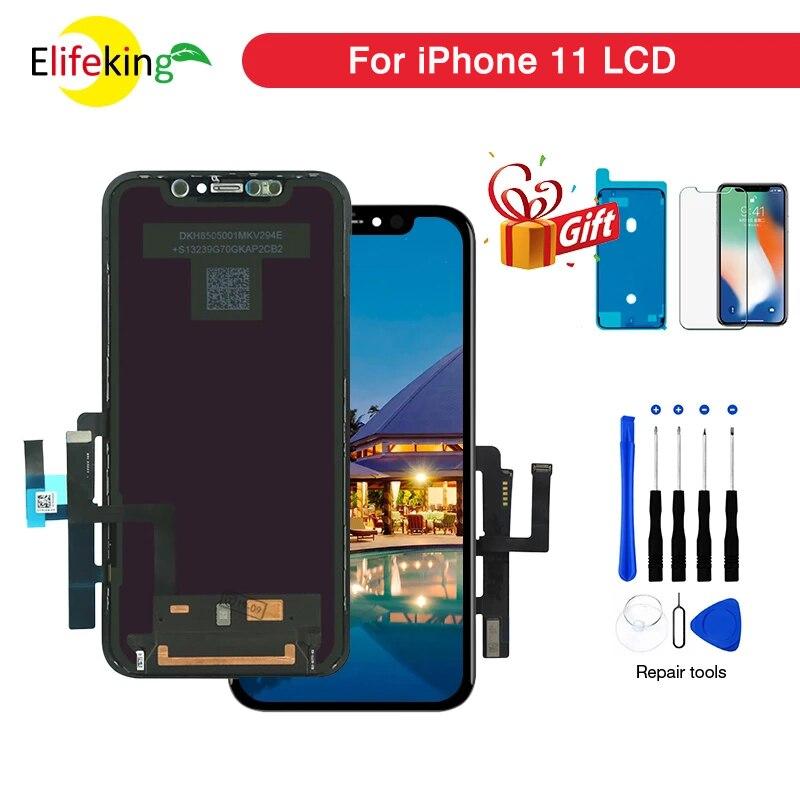 ЖК-дисплей 6,1 ''OEM для iPhone 11 A2221 A2111 A2223 с 3D сенсорным экраном дигитайзер в сборе 11 Pro Max OLED экран