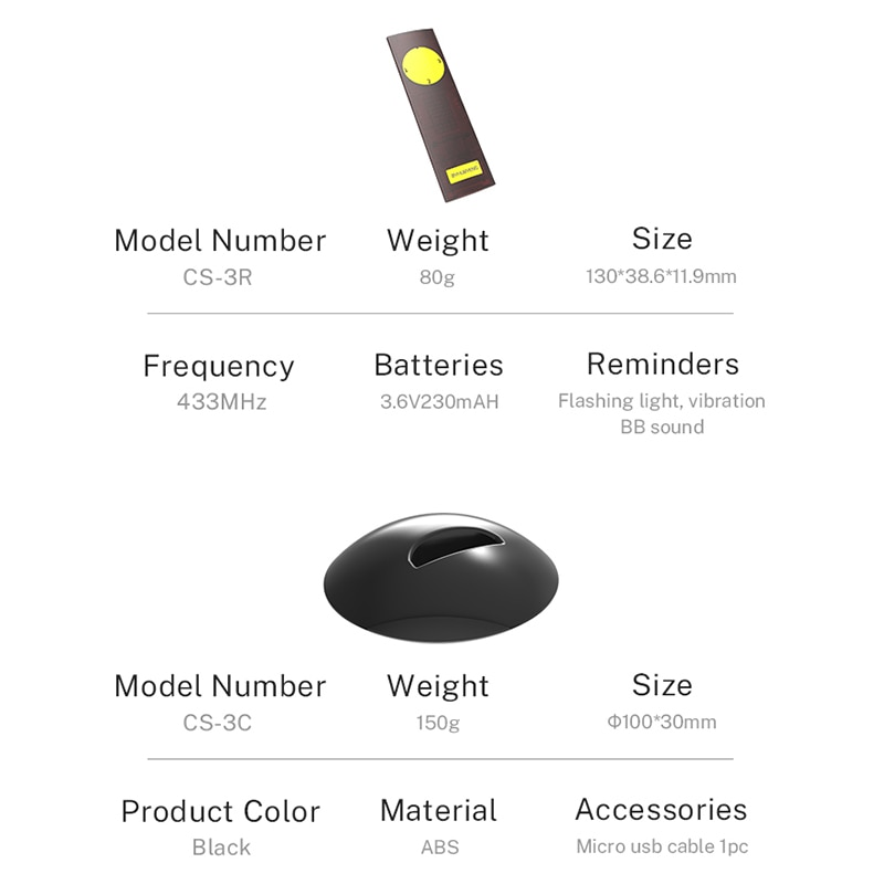 BYHUBYENG Office Remind 3 Call 1 Pager for Boss Staff Nursing Buttons Receiver Button Bell Home Alarm System Buzzer Table enlarge