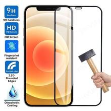 Vetro di protezione completo 9D per Apple iPhone 12 mini 11 Pro Max X XS XR pellicola proteggi schermo per iphone 7 8 6 6S Plus 5s SE vetro