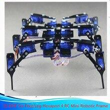 ISmaring officiel 1 ensemble bricolage Robot araignée 18 DOF Six pieds/jambe Hexapod 4 RC Mini cadre robotique