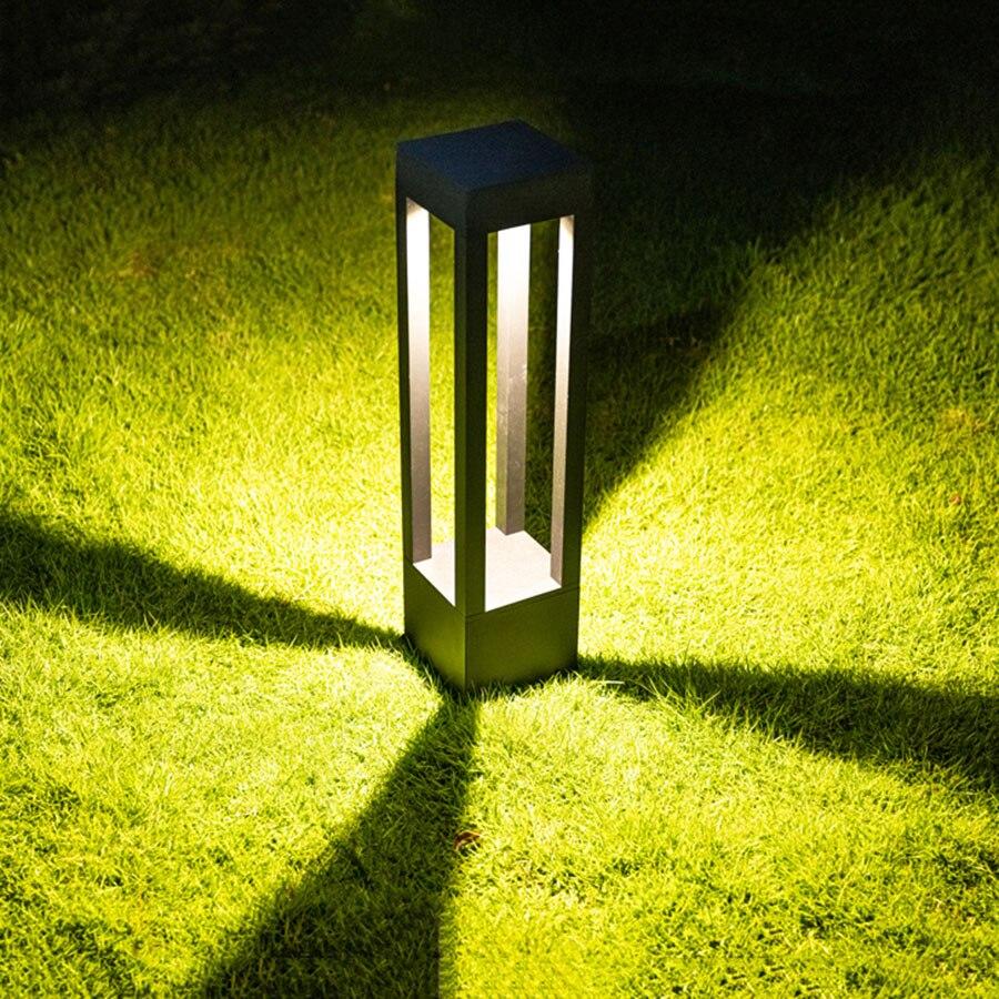 Waterproof Villa Fence Street Light Outdoor Gate Courtyard Garden Solar Pillar Lawn Lamp Landscape Solar Pathway Column Light enlarge