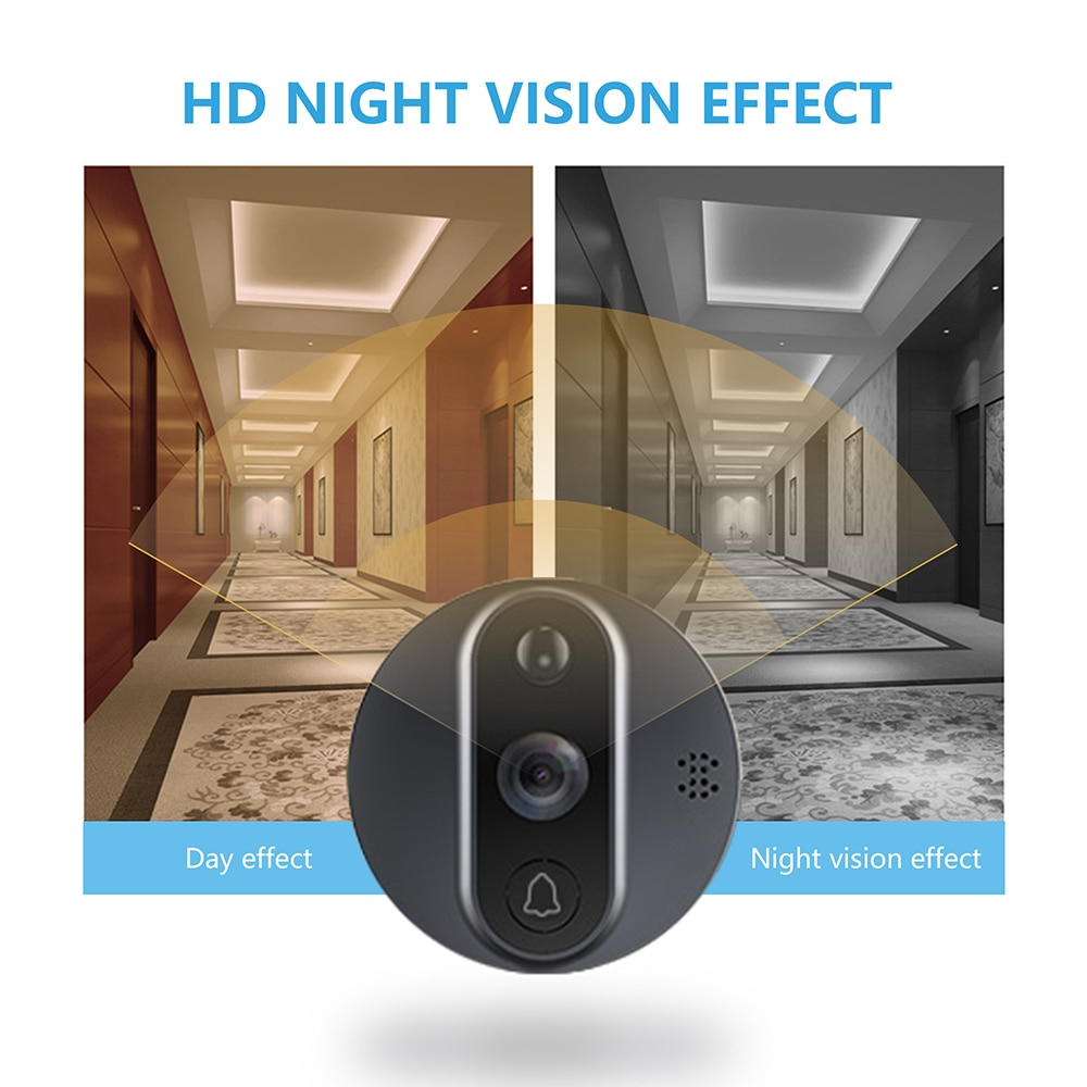 【special】Jeatone Tuya smart WiFi door bell With 720P/110°Camera video peephole for door 4.3