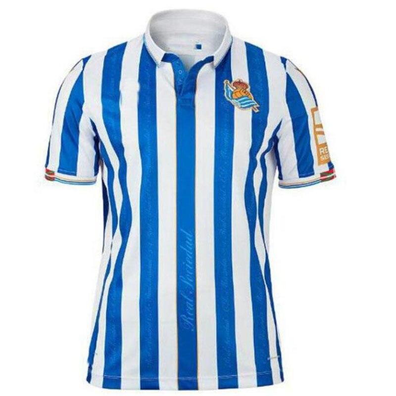 20 21 For Real Sociedad Kits Shirt X.PRIETO JUANMI AGIRRETXE CARLOS MOYA ARITZ Custom Home 2020 Adul