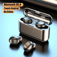 TWS Bluetooth Earphones For Phone Touch Control LED Power Display Wireless Headphones Earbuds with M