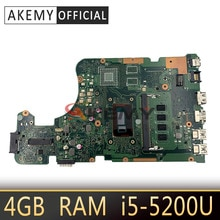 X555LD REV3.3 pour Asus X555LA X555LAB carte mère dordinateur portable 60NB0650-MB7710 avec SR23Y I5-5200U processeur 4GB de RAM