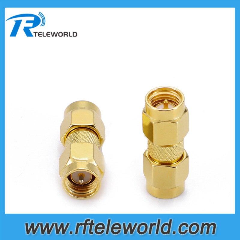10 piezas SMA macho a conector macho SMA adaptador RF 6GHz 50ohm