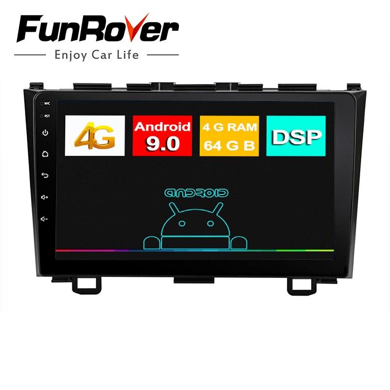 Funrover IPS 8 núcleos Android 9,0, Radio de coche 2 din, dvd Multimedia, gps para Honda CRV CR-V 2006 2007 2008 2009 2010 2011 radio Estéreo