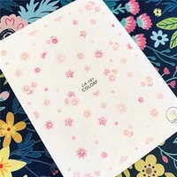 newest ca sereis ca 181 182 flower 3d nail art sticker nail decal stamping export japan designs rhinestones decorations