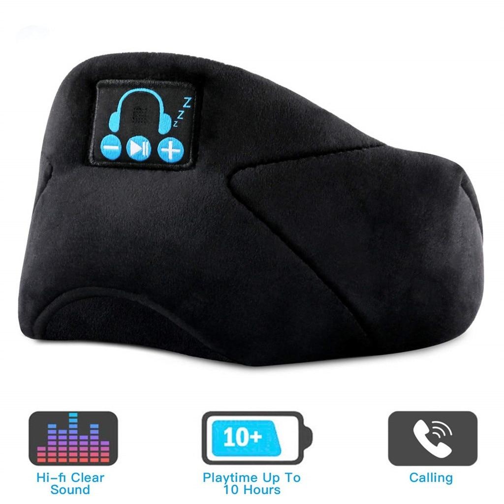40# Wireless Stereo Bluetooth 5.0 Earphone Headband Sleep Soft Earphones Sleeping Eye Music Headset Smart Bluetooth headset