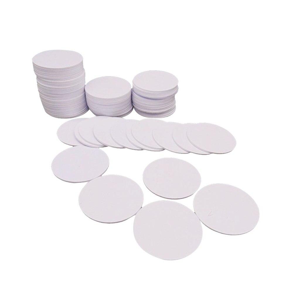 Ntag216-étiquette ronde NFC   Pièces de monnaie de 25mm, protocole ISO14443A, 888 octets, pour tous les téléphones NFC, 10 pièces/lot