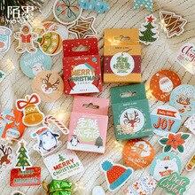46pcs/lot Vinatge Christmas Stickers Snowflake Diary Scrapbooking Labels Decorative Card Tags
