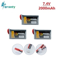 7,4 V 2000MAH Fernbedienung Batterie 2S Lipo Batterie für Jumper T16 T12 Open Source Multi-protokoll radio Sender batterie