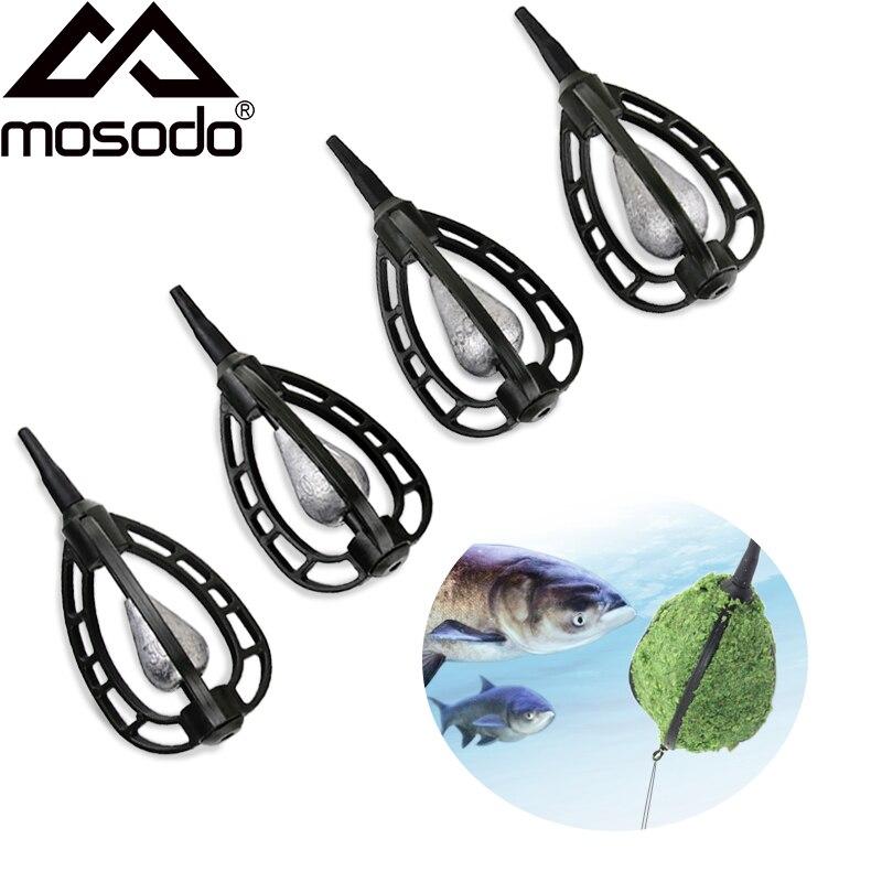 MOSODO Карп метод кормушки встроенные кормушки плесень 30 г 40 г 45 г 60 г свинцовый грузило для карпа рыболовная приманка