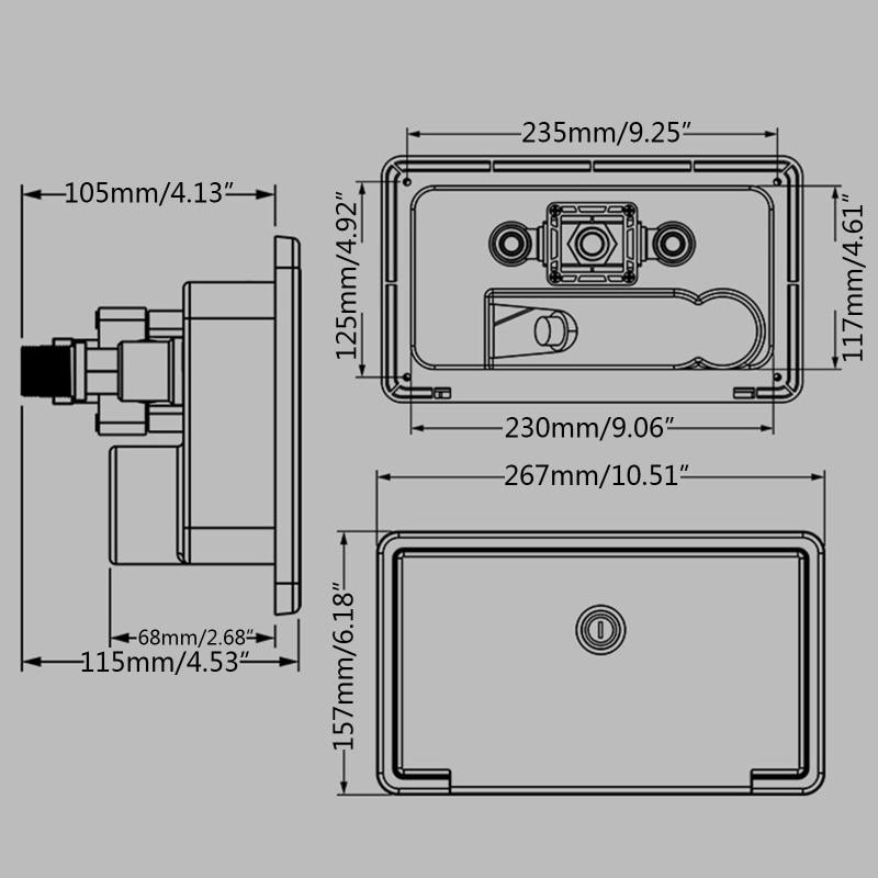 White/Black RV Exterior Shower Box Kit with Lock Boat Marine Camper Motorhome Caravan Accessories enlarge