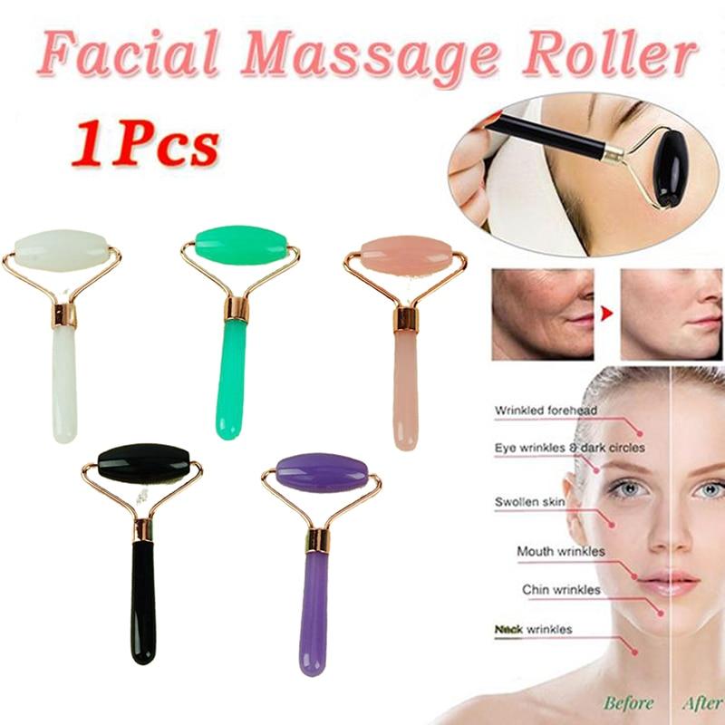 Facial SPA Massage Roller Single Head Beeswax Slimming Beauty Health Skin Care  Anti-Aging Women Bea