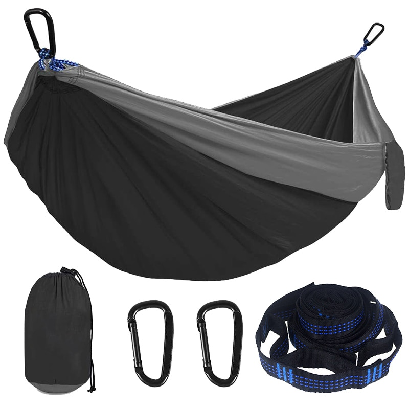New Camping Hammock Double Single Lightweight Hammock with Hanging Ropes for Backpacking Hiking Travel Beach Garden