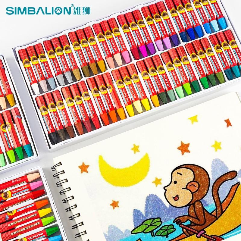Детские масляные пастели в виде льва, мелки, художественные мелки, граффити, кисти для рисования, моющиеся масляные пастели, безопасные масл...