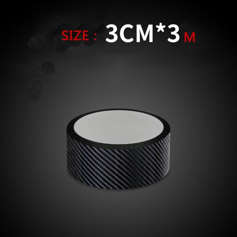 Pegatinas de coche 5D fibra de carbono vinilo 10m envoltura de coche etiquetas de rollo película Anti arañazos automóviles Protector de puerta accesorios de diseño de coche