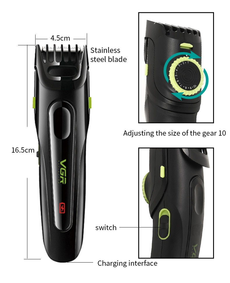 Professional Electric Hair Clipper Househeld USB Rechargeable Adult Men's Hair Style Trimmer Razors Hair Trimmers Corner Razor enlarge
