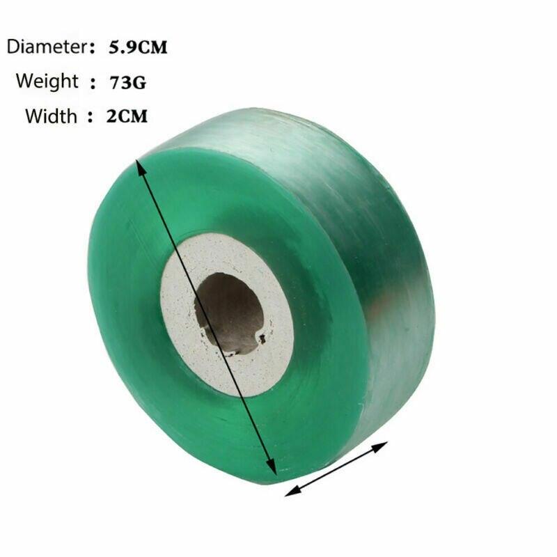 2 uds., cinta adhesiva elástica verde para injertos, película adhesiva para plantas de jardín de 2cm, árbol de plantones de PE para pecanas, nueces, cítricos, Etc.