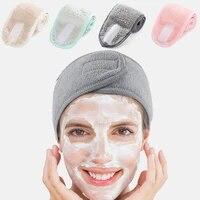 adjustable spa facial headband bath makeup hair band headbands for face washing soft toweling head band hair accessories