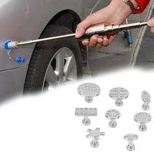 Инструменты для ремонта, прокладка, 8 шт., инструменты для удаления вмятин на автомобиле, съемник для ремонта вмятин из цинкового сплава