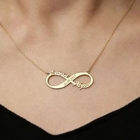 mens and womens personalized necklace custom double name infinite stainless steel necklace can be carved date anniversary gift