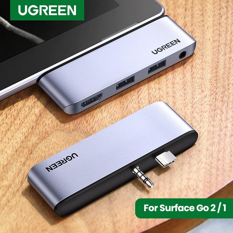 UGREEN Hub for Surface Go HUB USB C TO USB 3.0 4K HDMI 3.5mm Adapter Docking Station For Microsoft Surface Go 2/1 USB Type C HUB