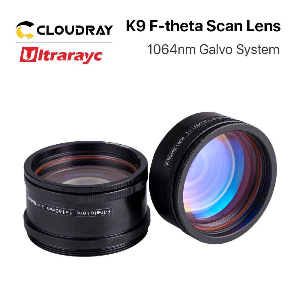 عدسة بصرية Ultrarayc K9 F-theta ، Galvo ، M55 & M39 ، مع خيط ، لوضع علامات الألياف البصرية YAG 1064 نانومتر ، نظام Galvo