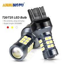 ANMINGPU 2x Signal Lamp T20 Led 7443 W21/5W W21W Led 7440 3030SMD T25 3157 P27/7W Led 3156 P27W Parking Lights Reverse Light 12V