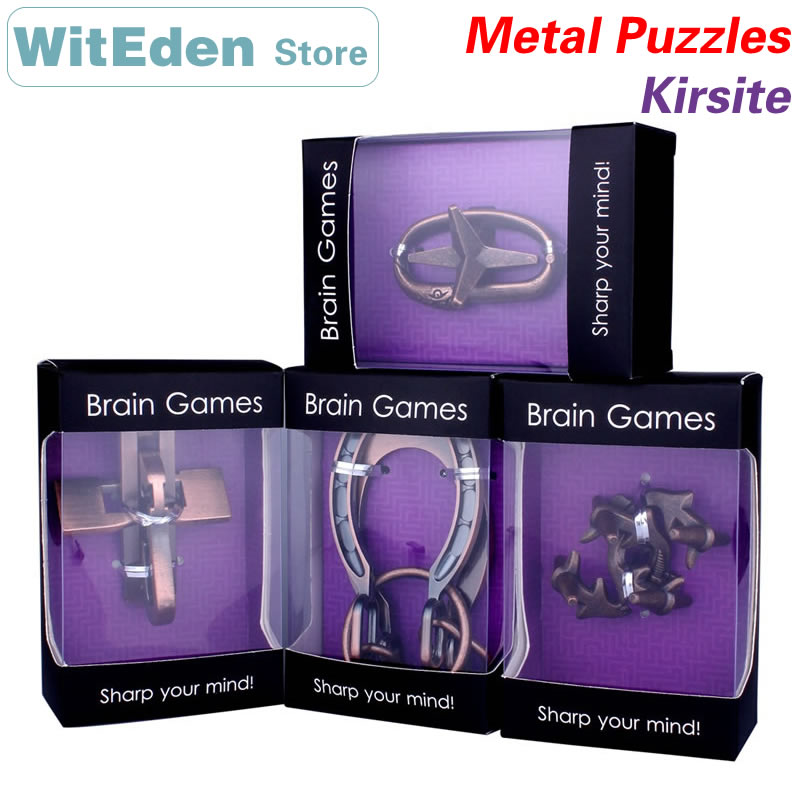Kirsite Alloy 3D Metal Wire Puzzles IQ Brain Teasers Games ZHL Intelligence Buckle Interlocking Unlock Educational Toys 12 in 1 intelligence brain training metal puzzles set silver