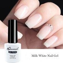 7ml Clear Opal Jelly Gel Polish Nude Milky White Color Gel Nail Lacquer UV Gel Soak Off Semi Permanent DIY Gel Varnish 2019