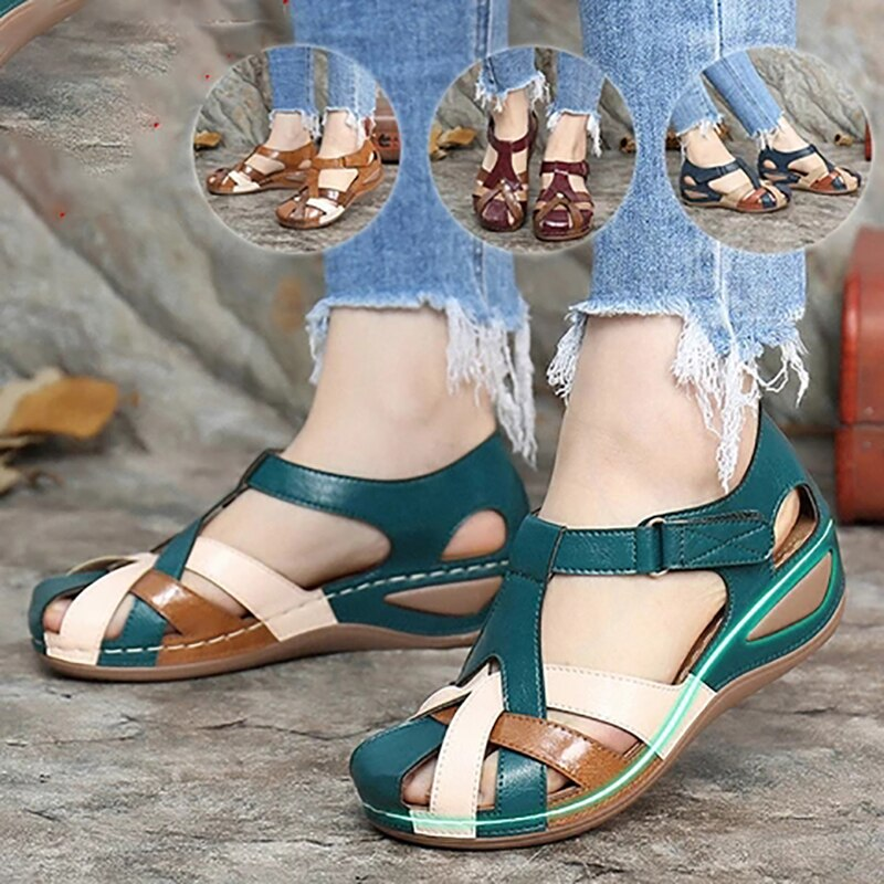 Fashion Women Sandals Waterproo Sli On Round Female Slippers Casual Comfortable Outdoor Fashion Sunmmer Plus Size Shoes Women