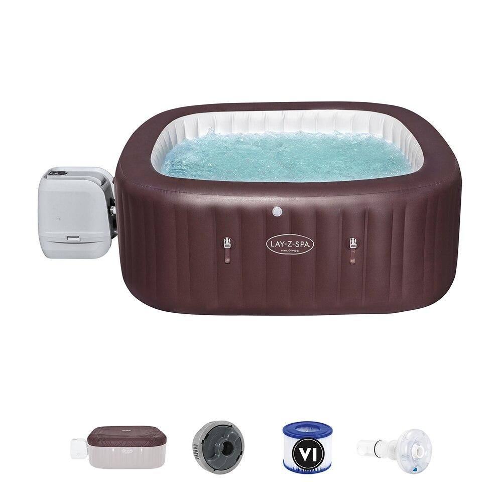 بيست واي 60033 المالديف هيدروجيت برو السباحة رخيصة في الهواء الطلق أحواض سبا مع 3-5 الكبار حمام سباحة للبالغين الأسرة